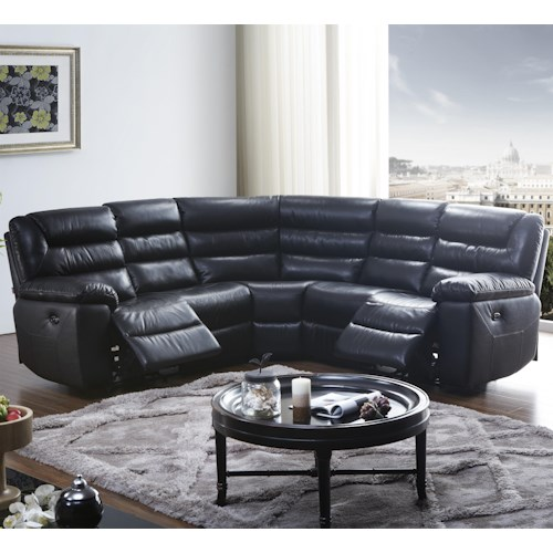 BFW Lifestyle 1711 Five Piece Power Reclining Sectional Sofa
