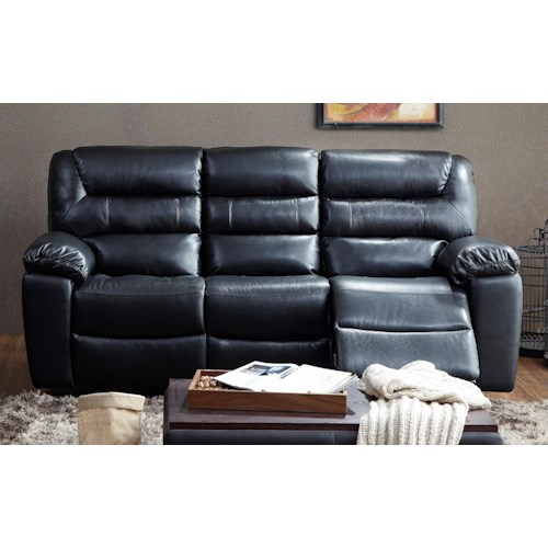 BFW Lifestyle 1711 Casual Three Seat Dual Reclining Sofa
