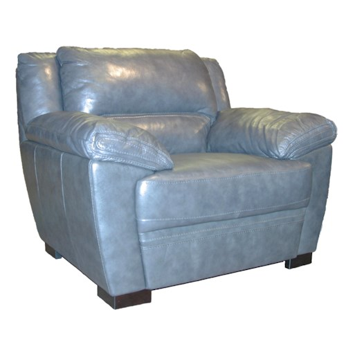 BFW Lifestyle 1963 Casual Chair with Wide Pillow Arms