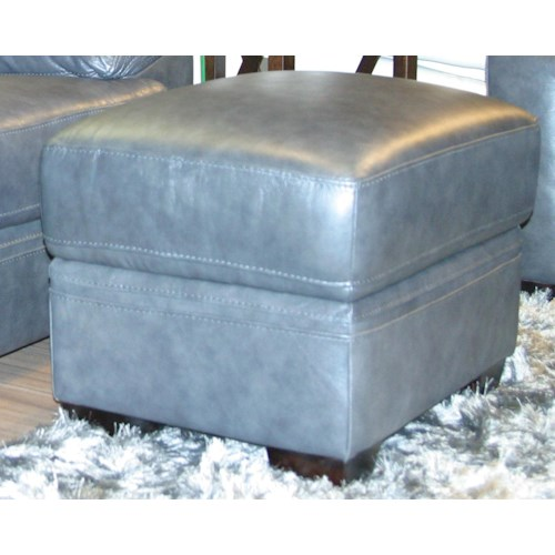 BFW Lifestyle 1963 Casual Ottoman with Tapered Wood Feet