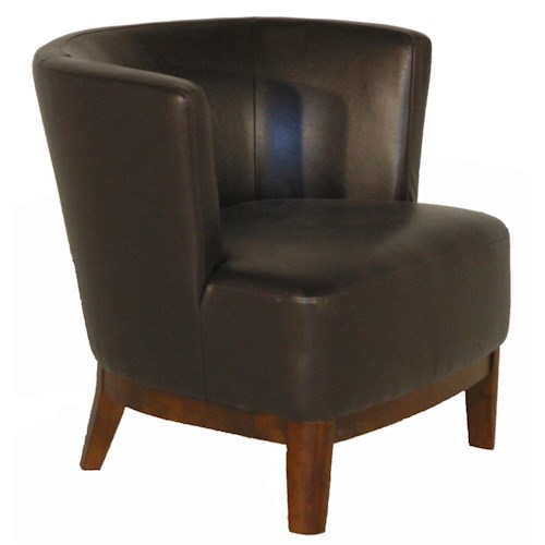 BFW Lifestyle A-773 Contemporary Accent Chair with Exposed Wood