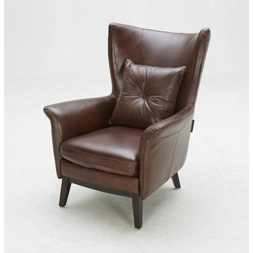 BFW Lifestyle A-822 Contemporary Accent Chair with Wing Back