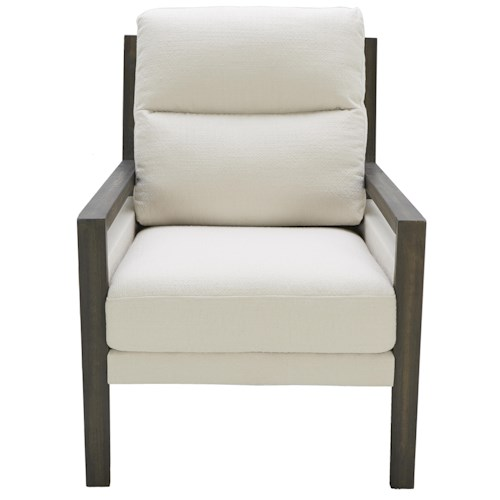 Urban Evolution Carper Contemporary Accent Chair with Exposed Wood