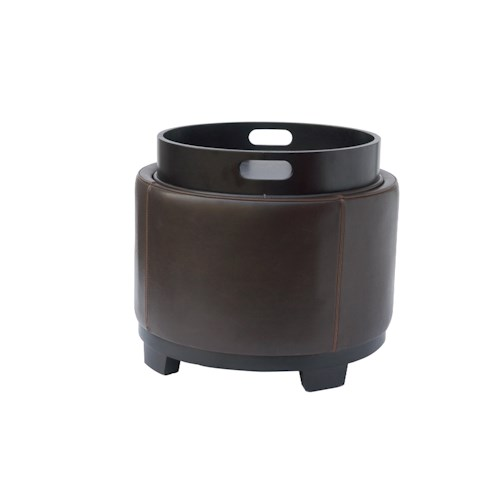 BFW Lifestyle Accent Ottomans Round Accent Ottoman with Storage