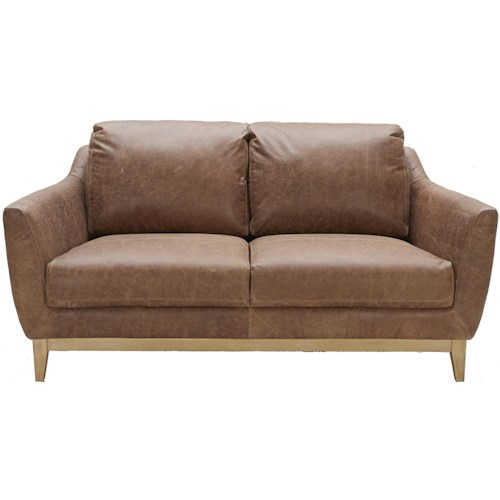 Urban Evolution Baker Loveseat with Splayed Legs