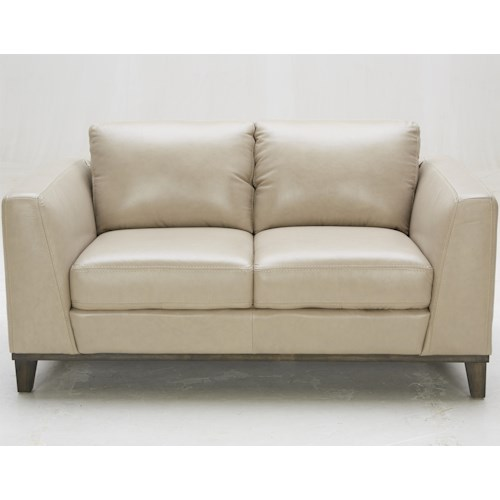 Urban Evolution Corbin Contemporary Loveseat with Track Arms