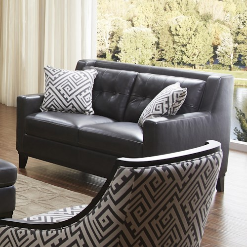 Urban Evolution Devon Leather Loveseat
