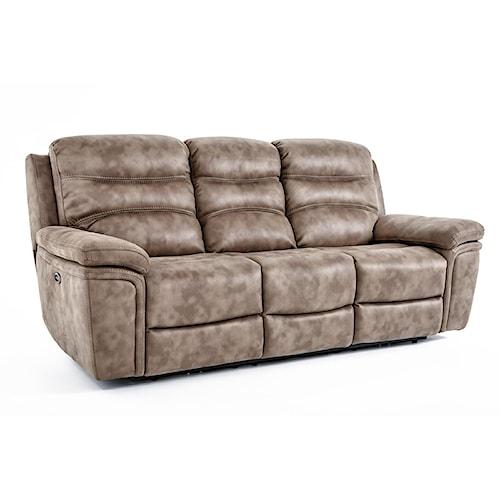 Kuka Home KM008 Casual Power Reclining Sofa