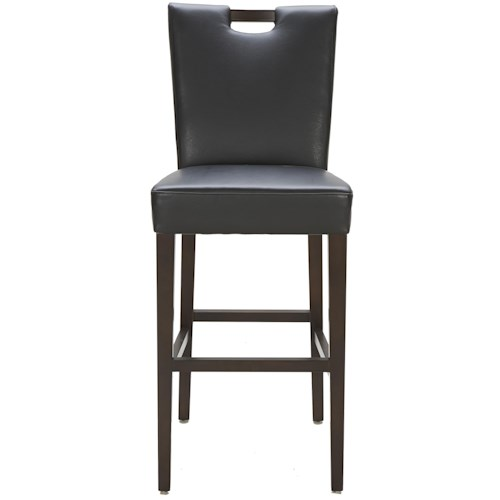 Urban Evolution Urban Stools Brighton Black Leather Bar Stool