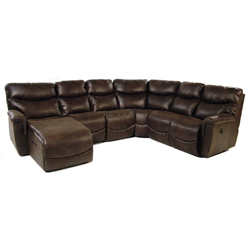 La-Z-Boy Palladin 5PC Reclining Sectional w/ Chaise
