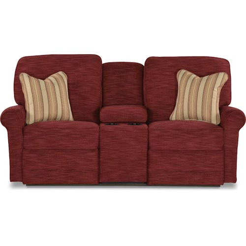 La-Z-Boy Addison Transitional Power Reclining Loveseat with Cupholder and Storage Console