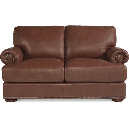 La-Z-Boy Andrew Traditional Loveseat with Nailhead Trim