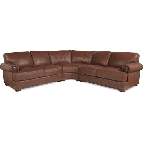 La-Z-Boy Andrew Traditional 3 Piece Sectional with Nailhead Trim