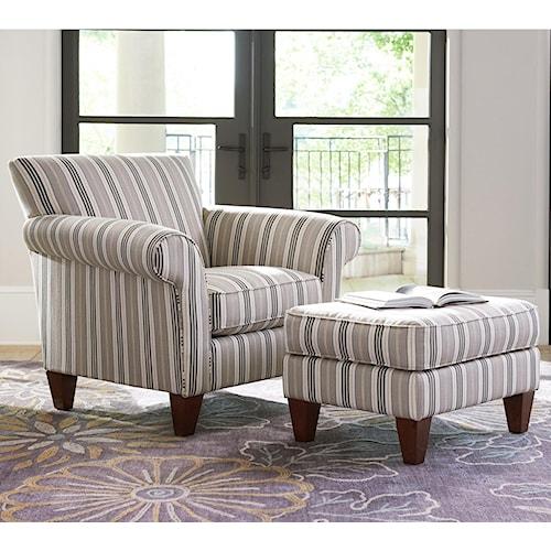 La-Z-Boy Aria Transitional Chair and Ottoman Set