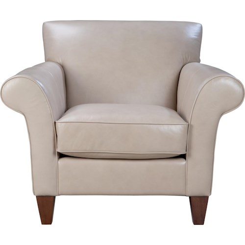 La-Z-Boy Aria Transitional Stationary Chair with Sloped Rolled Arms