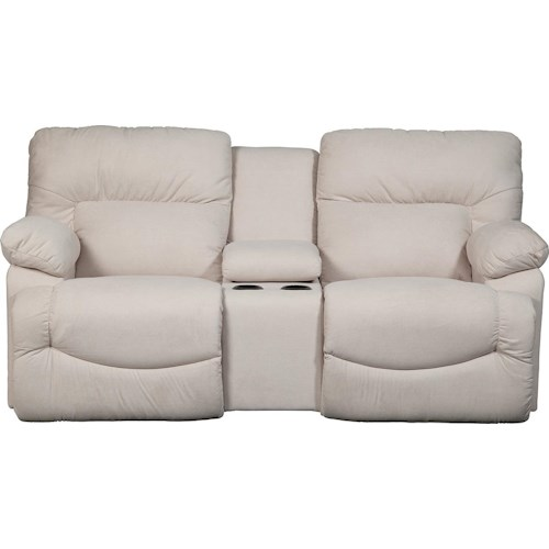 La-Z-Boy Shona Casual La-Z-Time® Full Reclining Power Loveseat with Cupholder Console