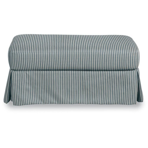 La-Z-Boy Beacon Hill Premier Ottoman with Kick-Pleat Skirt