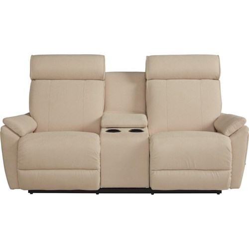 La-Z-Boy Beckett Contemporary Reclina-Way® Full Reclining Loveseat w/ Middle Console