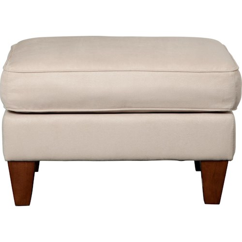 La-Z-Boy Paprikash Premier Ottoman with Exposed Tapered Wood Feet