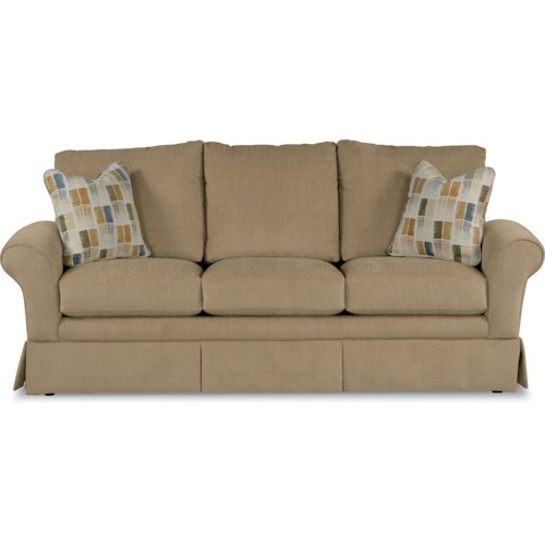 La-Z-Boy Blair Casual La-Z-Boy® Queen Sofa Sleeper with Kick Pleat Skirt