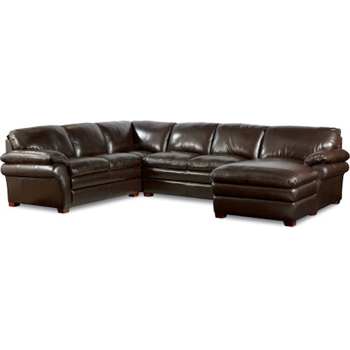 La-Z-Boy Brock Traditional 3 Piece Sectional with Chaise