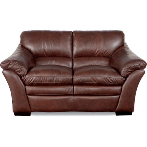 La-Z-Boy Burton Casual Loveseat with Split Back and Pillow Top Arms