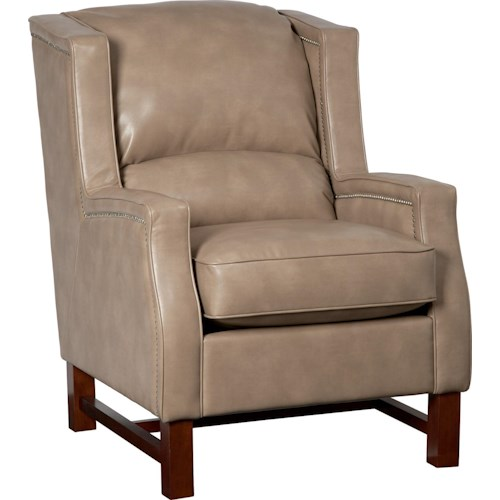 La-Z-Boy Chairs Cosmopolitan Transitional Wing Chair with Nailheads and Exposed Wood Trim