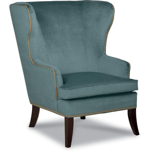 La-Z-Boy Chairs Moscato Wing Chair with Nailhead Trim