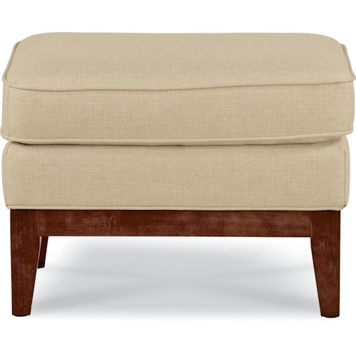 La-Z-Boy Chairs Edge Ottoman with Exposed Wood Base