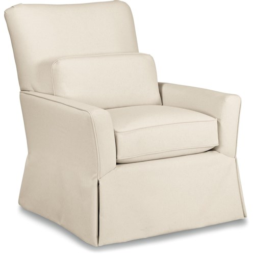 La-Z-Boy Chairs Lena Skirted Swivel Gliding Chair Premier ComfortCore® Cushion