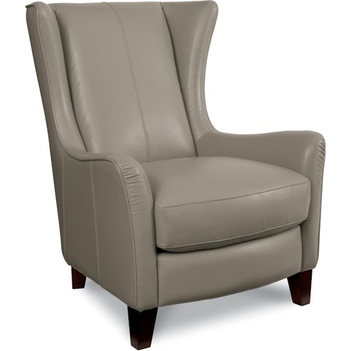La-Z-Boy Chairs Heather Wing Chair with Flare Tapered Arms