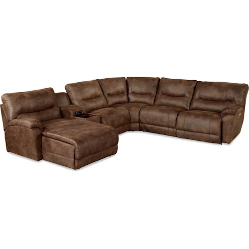 La-Z-Boy Dawson Casual Six Piece Reclining Sectional Sofa with LAS Chaise