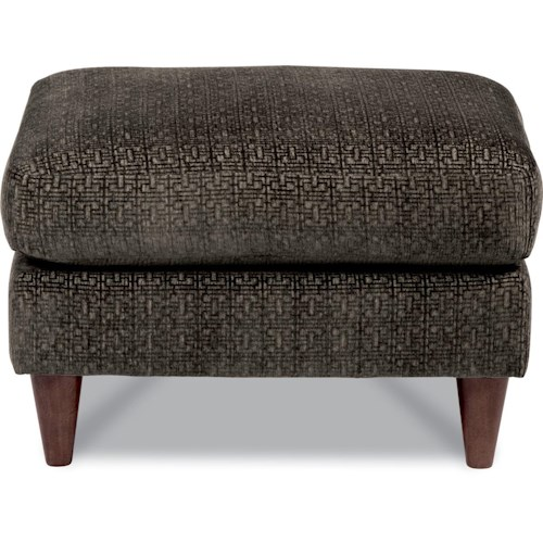 La-Z-Boy DECO Contemporary Ottoman with Conical Wood Legs