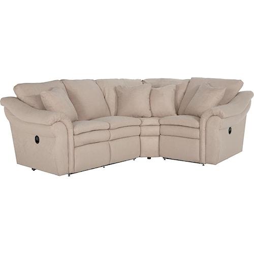La-Z-Boy Devon  3 Pc Reclining Sectional Sofa with RAS Sofa