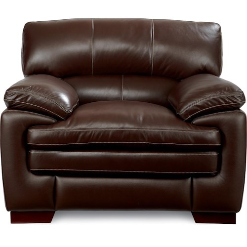 La-Z-Boy Dexter Casual Stationary Chair with Pillow Top Seat and Arms
