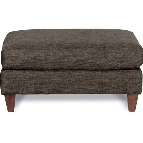 La-Z-Boy Marley Premier Contemporary Ottoman with Tapered Wood Legs