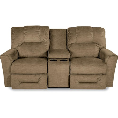La-Z-Boy EASTON Power La-Z-Time® Full Reclining Loveseat with Storage Console