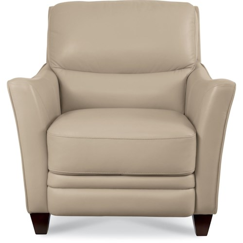 La-Z-Boy GRAHAM Contemporary Leather Chair with Flared Arms