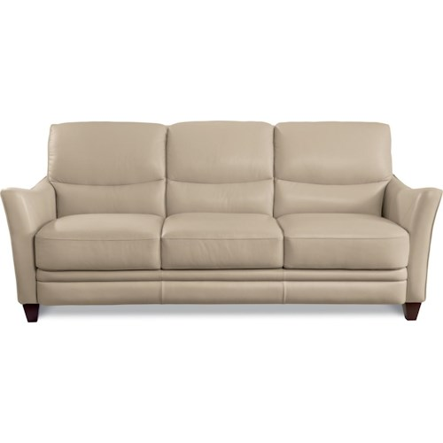 La-Z-Boy GRAHAM Contemporary Leather Sofa with Flared Arms
