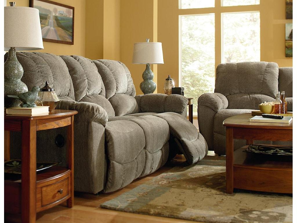 La Z Boy Living Room Set La Z Boy Hayes Casual La Z Timear Full Reclining Sofa With Channel