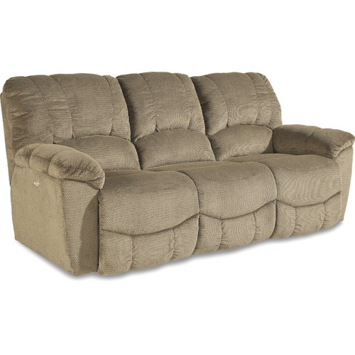 La-Z-Boy Nautilus Casual Power La-Z-Time® Full Reclining Sofa with Channel-Stitched Back