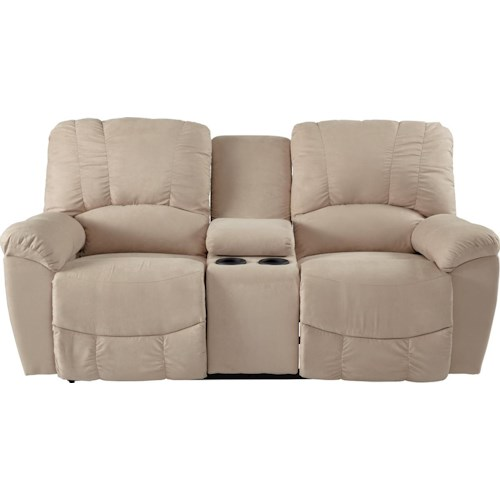 La-Z-Boy Nautilus Casual La-Z-Time®Full Reclining Loveseat w/Console and Channel-Stitched Back