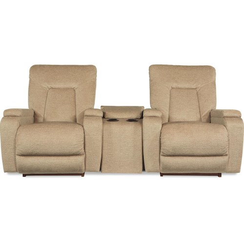 La-Z-Boy Intermission Three Piece Power-Recline-XR Rocker Recliner and Console Sectional Set