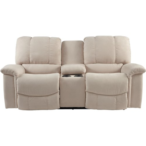 La-Z-Boy Sultry Casual Jace La-Z-Time® Full Reclining Loveseat with Bucket Seats and Console