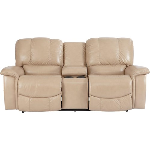 La-Z-Boy Jace Casual Jace La-Z-Time® Full Reclining Loveseat with Bucket Seats and Console