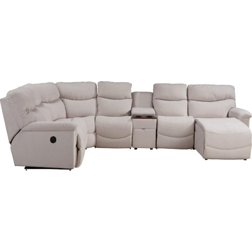 La-Z-Boy Palladin Six Piece Power Reclining Sectional with LAS Chaise