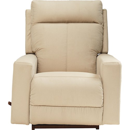 La-Z-Boy Jax Contemporary RECLINA-GLIDER® Swivel Recliner with Topstitch Detailing