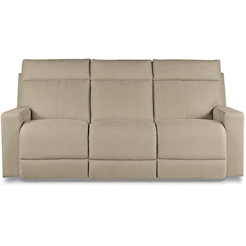 La-Z-Boy Jax Contemporary Power Reclining Sofa with Topstitch Detailing