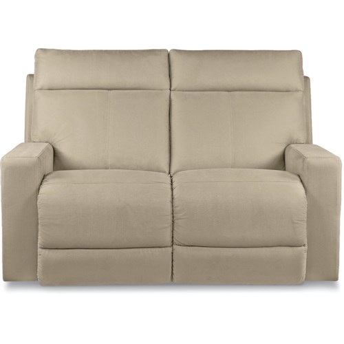 La-Z-Boy Jax Contemporary Reclining Loveseat with Topstitch Detailing