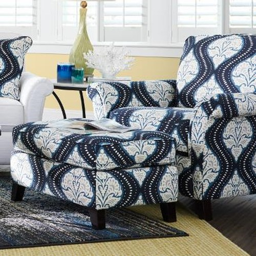 La-Z-Boy Phoebe Transitional Flared Arm Chair and Ottoman Set